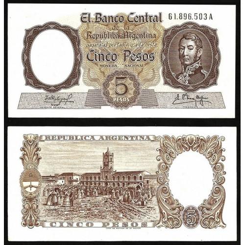 ARGENTINA 5 Pesos 1960