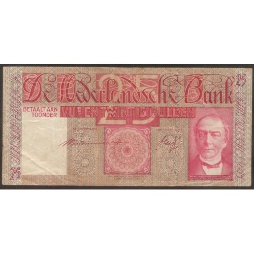 NETHERLANDS 25 Gulden 1941