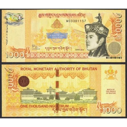 BHUTAN 1000 Ngultrum 2016...