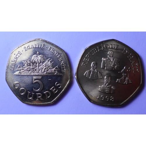 HAITI 5 Gourdes 1998