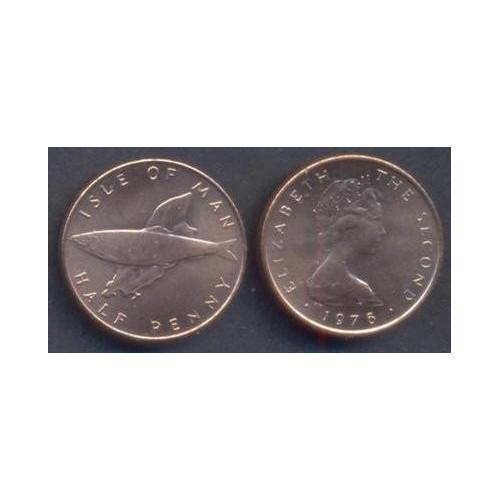 ISLE OF MAN 1/2 Penny 1976