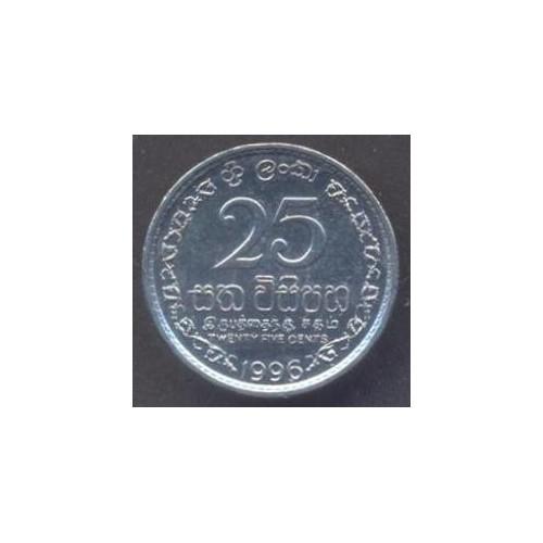 SRI LANKA 25 Cents 1996