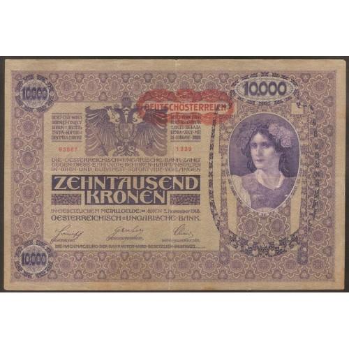 AUSTRIA 10.000 Kronen 1918