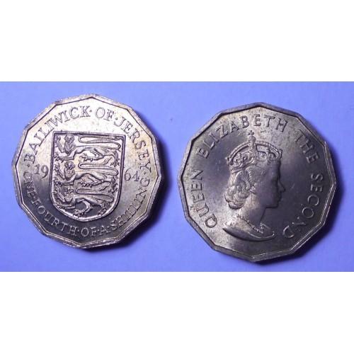 JERSEY 1/4 Shilling 1964