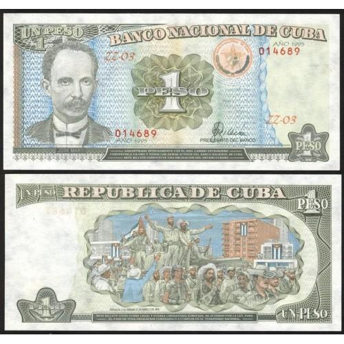 CUBA 1 Peso 1995 Replacement