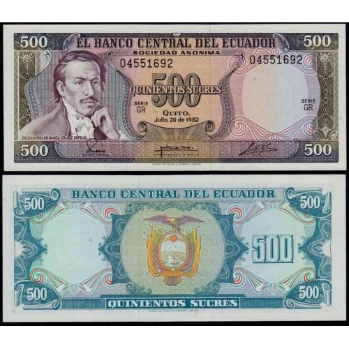 ECUADOR 500 Sucres 1982...