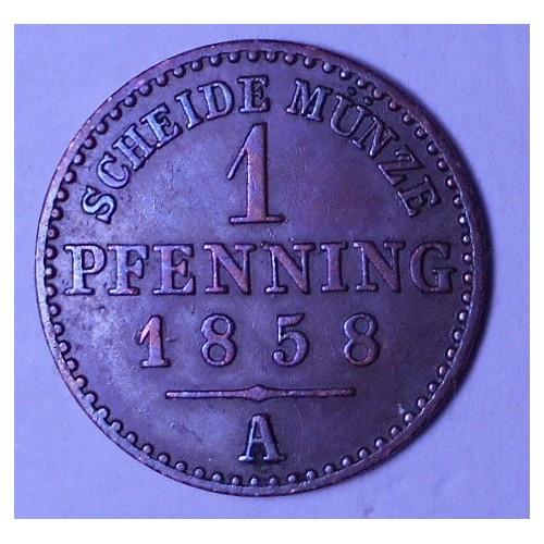 Lippe/Detmold 1 Pfennig 1858 A