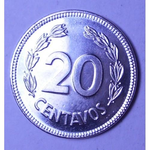ECUADOR 20 Centavos 1981