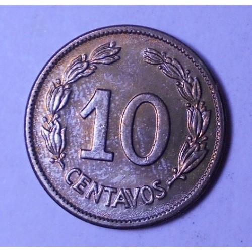 ECUADOR 10 Centavos 1946