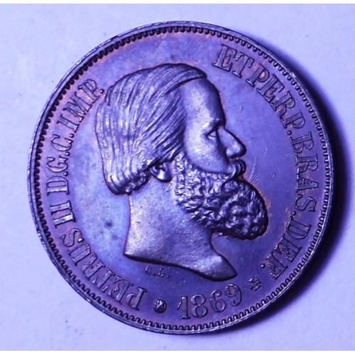 BRAZIL 20 Reis 1869
