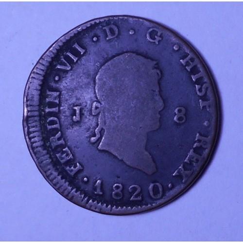 SPAIN 8 Maravedis 1820 J...