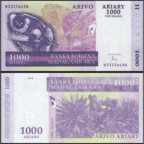 MADAGASCAR 1000 Ariary 2016
