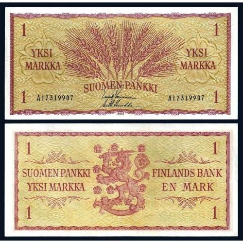 FINLAND 1 Markkaa 1963
