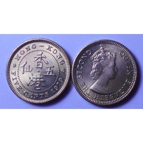 HONG KONG 5 Cents 1979