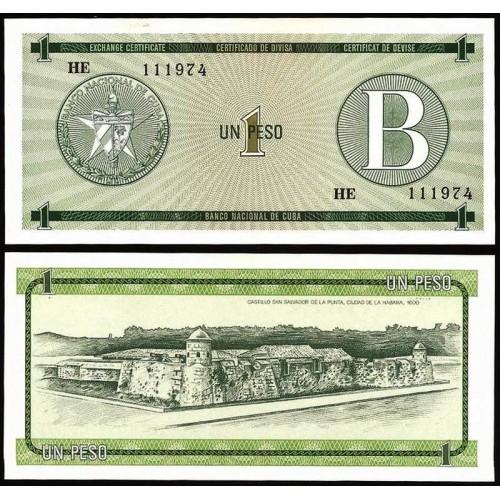 CUBA 1 Peso 1985 Serie B