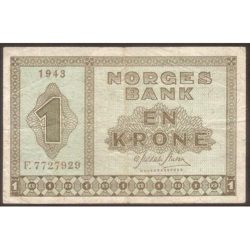 NORWAY 1 Krone 1943