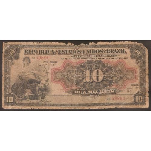 BRAZIL 10 Mil Reis 1912