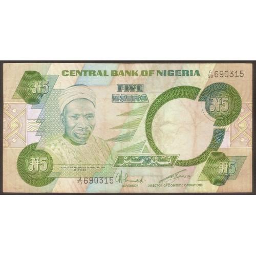 NIGERIA 5 Naira 1984