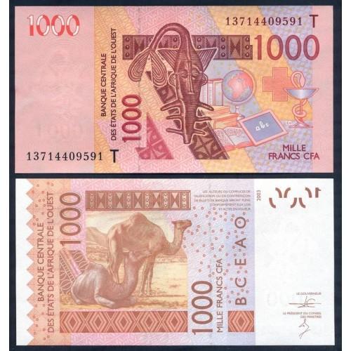 TOGO (W.A.S.) 1000 Francs 2013
