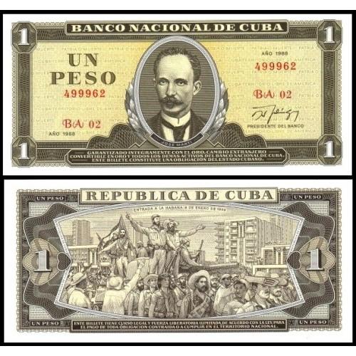 CUBA 1 Peso 1988