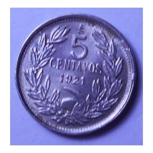 CHILE 5 Centavos 1921