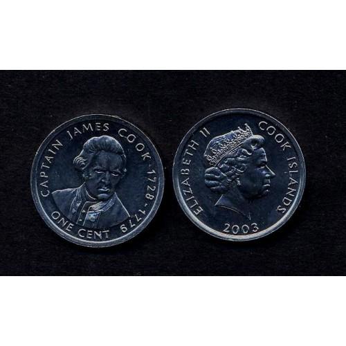 COOK ISLANDS 1 Cent 2003...