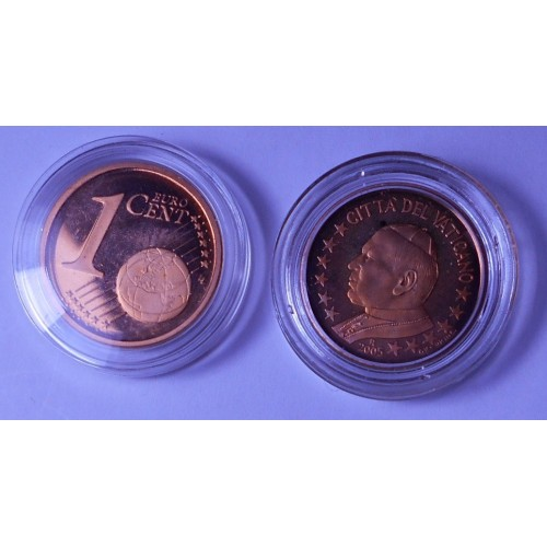 VATICANO 1 Euro Cent 2005...