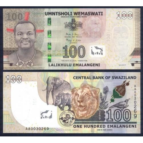 SWAZILAND 100 Emalangeni...