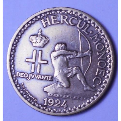 MONACO 1 Franc 1924