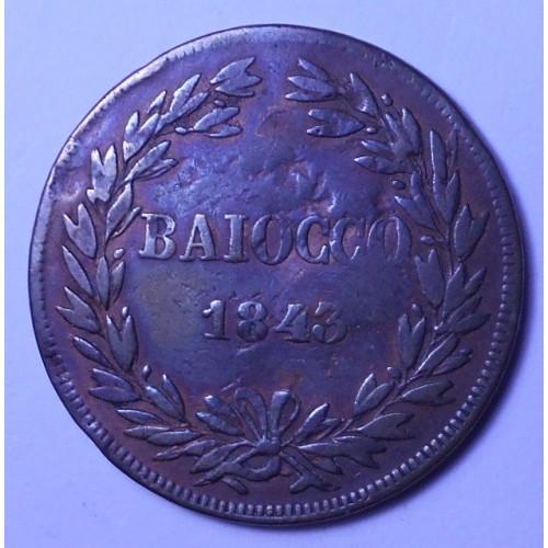 GREGORIO XVI Baiocco 1843 R...