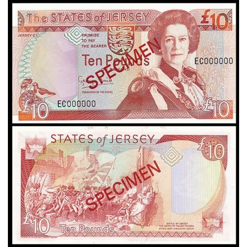 JERSEY 10 Pounds 1993 SPECIMEN