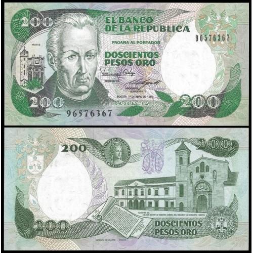 COLOMBIA 200 Pesos 01.04.1989