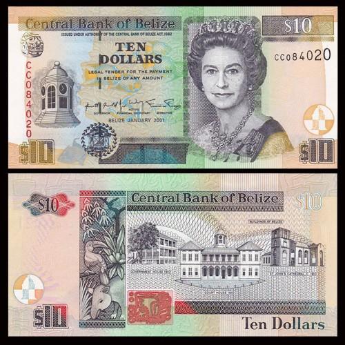 BELIZE 10 Dollars 2001