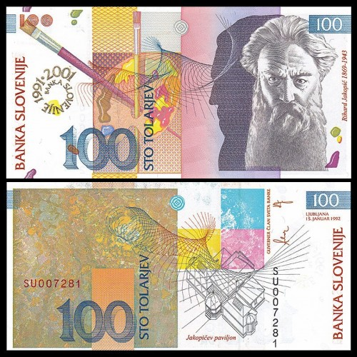 SLOVENIA 100 Tolarjev 1992...