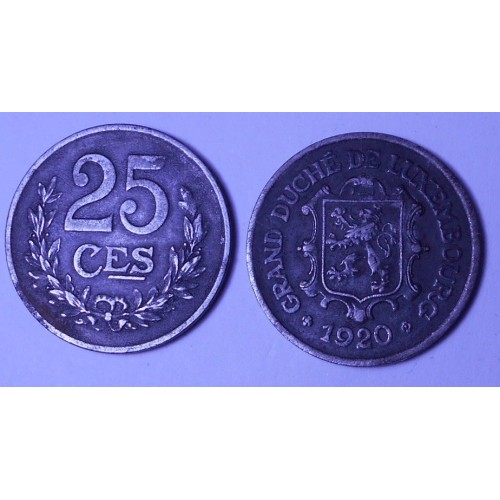 LUXEMBOURG 25 Centimes 1920