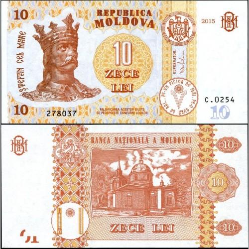 MOLDOVA 10 Lei 2015