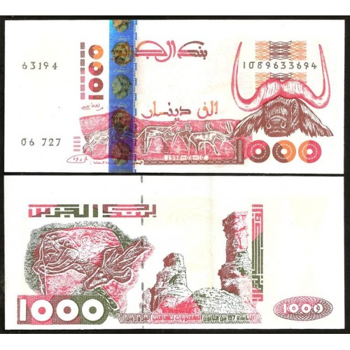ALGERIA 1000 Dinars 1998