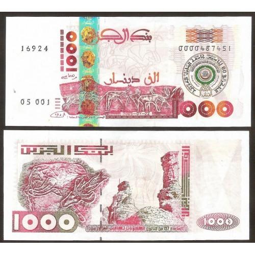ALGERIA 1000 Dinars 2005...