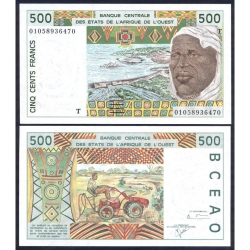 TOGO (W.A.S.) 500 Francs 2001