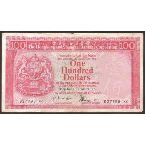 HONG KONG 100 Dollars 1979