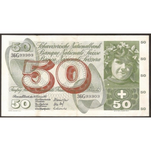 SWITZERLAND 50 Franken 1971