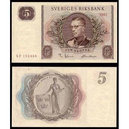 SWEDEN 5 Kronor 1961