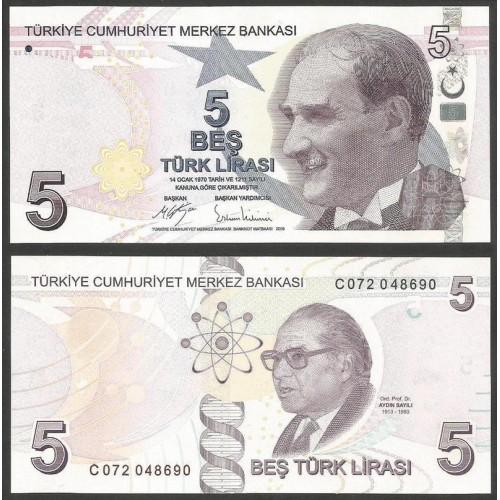 TURKEY 5 Lira 2009 (2017)