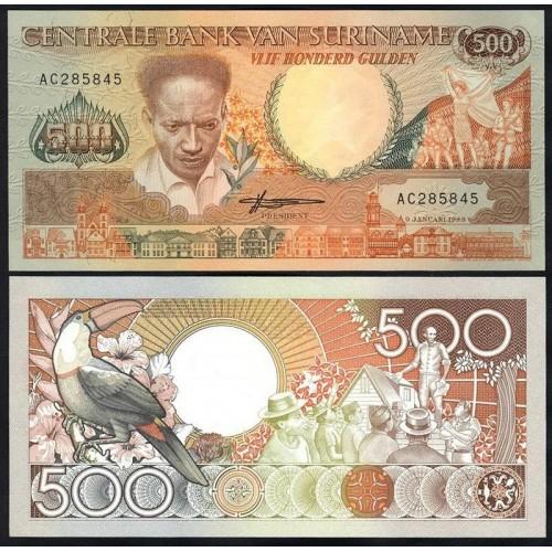 SURINAME 500 Gulden 1988