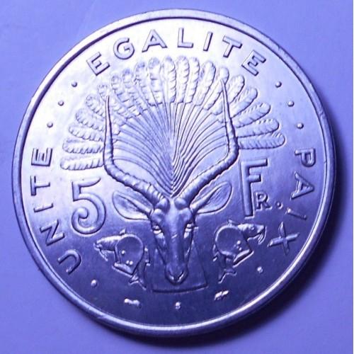 DJIBOUTI 5 Francs 1977