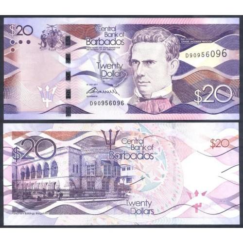 BARBADOS 20 Dollars 2017