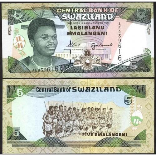 SWAZILAND 5 Emalangeni 1995