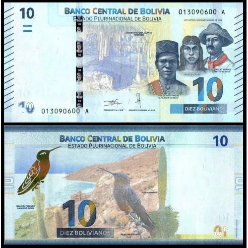 BOLIVIA 10 Bolivianos 2018