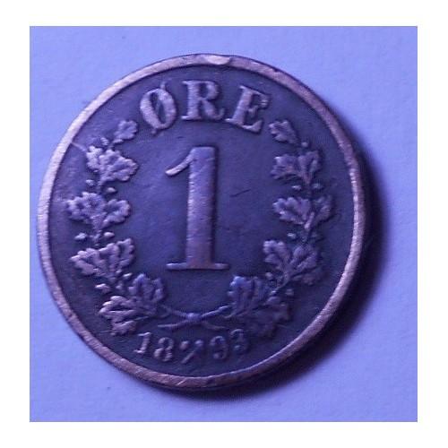 NORWAY 1 Ore 1893