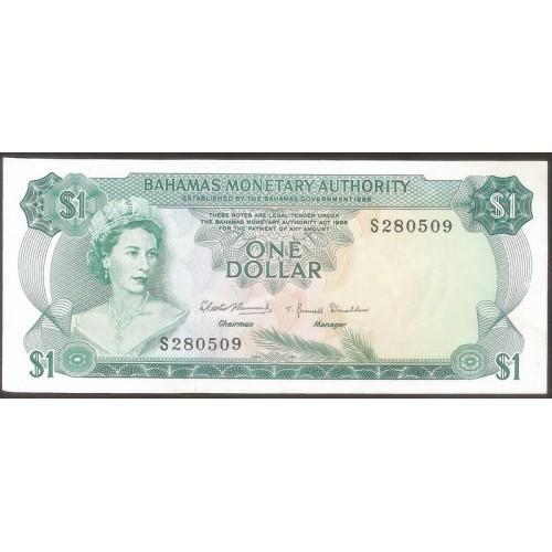 BAHAMAS 1 Dollar 1968